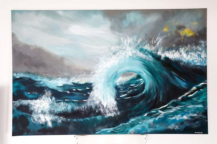 Welle, Wasser, Meer, Malerei,