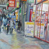 Straßenszene, Malerei
