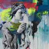 Streetart, Frau, Graffiti, Portrait