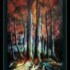 Baum, Rotkäppchen, Wald, Malerei