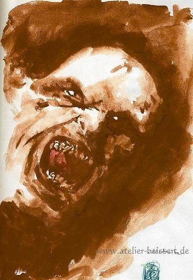 Ork, Fantasie, Zeichnungen, Morgen, Halloween