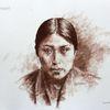 Indianer, Portrait, Reservat, Usa