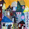 Intutiv collage, Stadt, Fantasie, Architektur