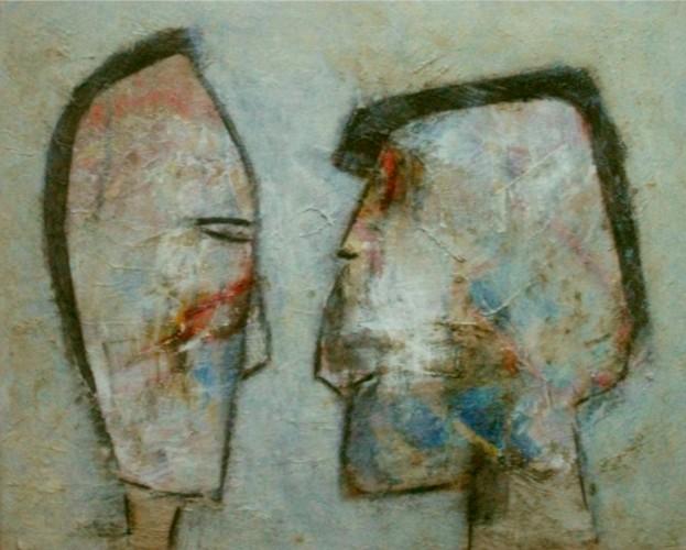 Figuren köpfe, Malerei, Malerei 2015