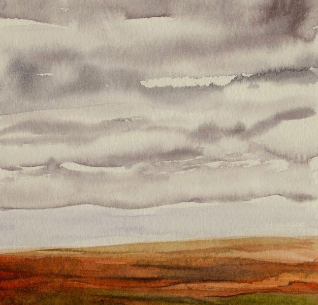 Aquarellmalerei, Landschaft, Himmel, Aquarell