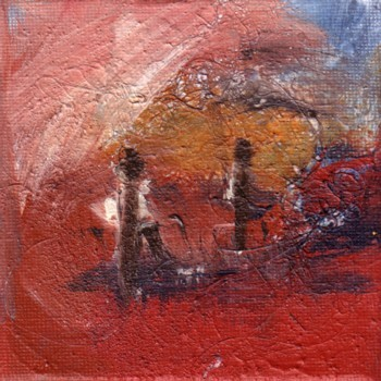 Acrylmalerei, Landschaft, Menschen, Malerei