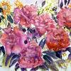 Stillleben, Blumenmalerei, Aquarellmalerei, Aquarell