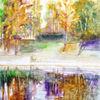Landschaft, Spiegelung, Natur, Wasser