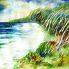 Landschaft, Wald, Aquarellmalerei, Natur