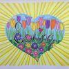 Gekritzel, Blumen, Frühling, Fantasie