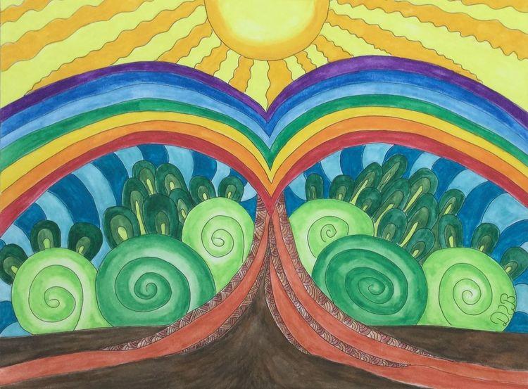 Regenbogen Zeichnung