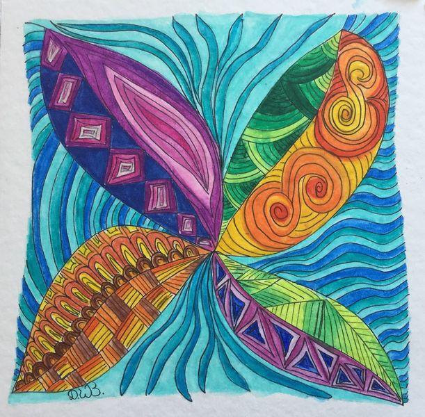 Aquarellmalerei, Fantasie, Doddle, Sommergefühle, Zeichnung, Zeichnung gekritzel
