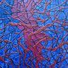 Blau, Struktur, Acrylmalerei, Tafelmalerei