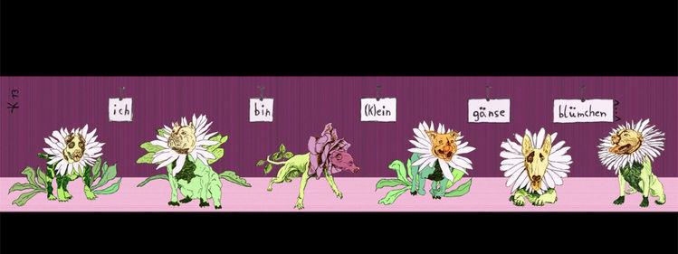 Frühmorgensvormspiegel, Gänseblümchen, Humor, Selbstportrait, Humoristisch, Terrier