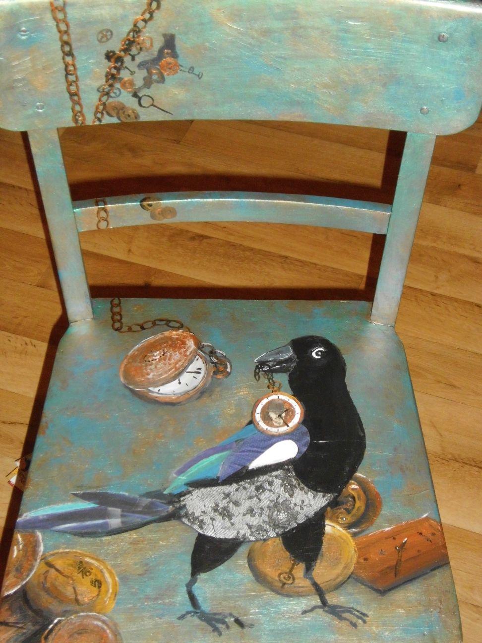 Bemalte Stühle bild zeitraffer lustig collage nest reichklein bei kunstnet