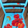 Möbel, Stuhl, Acrylmalerei, Mischtechnik