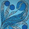 Pinsel, Fantasie, Blautöne, Malerei