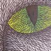 Grün, Pinsel, Augen, Malerei