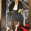 Rot schwarz, Lempicka, Frau, Gemälde