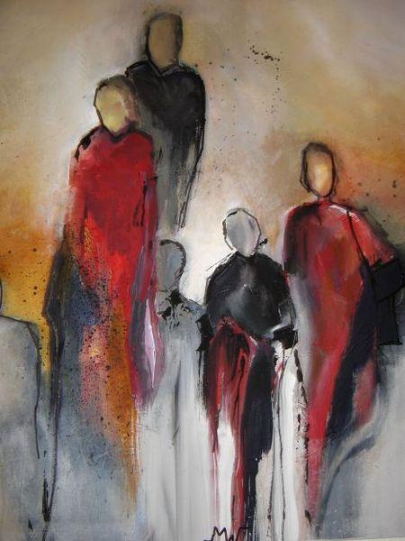 Familie, Menschen, Abstrakt, Malerei,