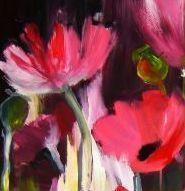Malerei, Blumen, Mohn