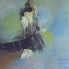 Blau, Mysterie, Abstrakt, Malerei