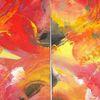 Blumen, Acrylmalerei, Rot, Modern
