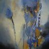Blumen, Blau, Abstrakt, Modern