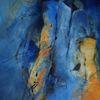 Blau, Familie, Acrylmalerei, Menschen