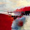 Acrylmalerei, Rot, Landschaft, Modern