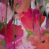 Acrylmalerei, Modern, Mohn, Rot