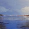 Landschaft, Wasser, Acrylmalerei, Malerei