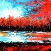 Herbst, Ölmalerei, Spachteltechnik, Malerei