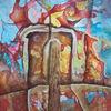 Abstrakt, Farben, Stark, Malerei