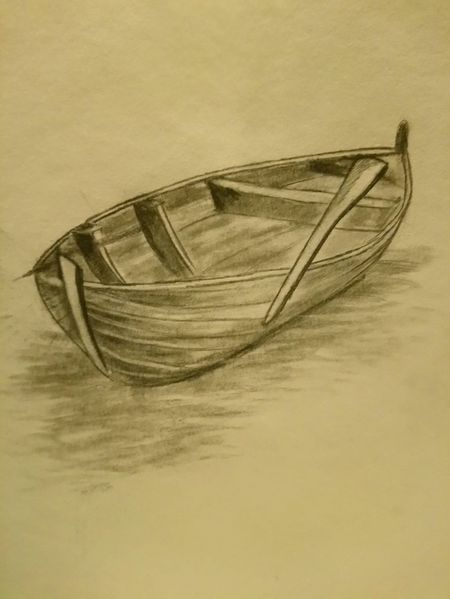 Wasser, See, Boot, Zeichnungen