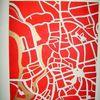 Stadtplan, Teuscher, Halle saale, Malerei