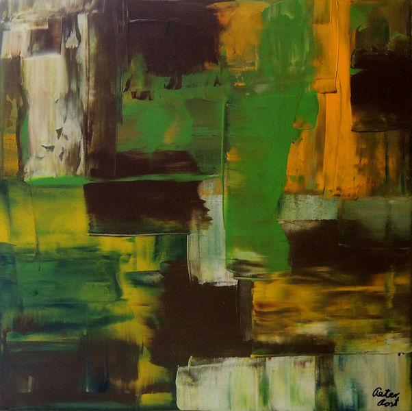 Abstrakte kunst, Abstrakt, Rakeltechnik, Acrylmalerei, Strukturpaste, Malerei