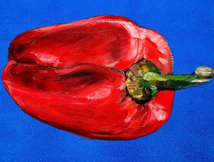 Rot, Paprika, Gemüse, Malerei