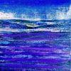 Lavendel, Blau, Landschaft, Malerei