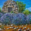 Lavendel, Borie, Provence, Malerei