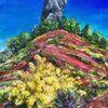 Ginster, Rote erde, Salagou, Malerei