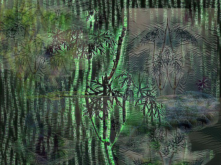 Wald, Sumpf, Urwald, Outsider art, Moor, Digitale kunst