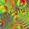 Farbsphären - kugeln, sphären, blasen, perlen, glas, transparent, lichtbrechung, linsen, wellen, kreise, ellypsen, konzentrisch, rillen, bunt, vielfarbig, polichromatisch, spektralfarben, sättigung, farbverläufe, farbenfroh, reflexe, reflexionen, glänzend, glanz, hohlk