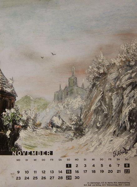 November, Schloss, Winter, Kalt, Frost, Romantik
