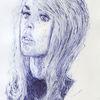 Hollywood, Kugelschreiber, Frau, Blond