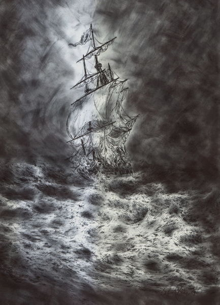 Wasser, Kugelschreiber, Meer, Natur, Storm, Wolken
