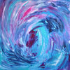 Blautöne, Spirale, Dynamik, Malerei
