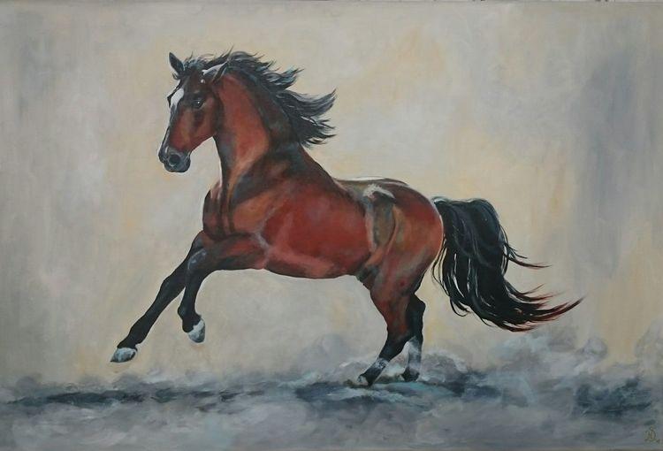 Hengst, Andalusier, Pferde, Malerei