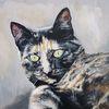 Kater, Portrait, Katze, Malerei