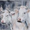 Kuh, Rind, Charolais, Malerei